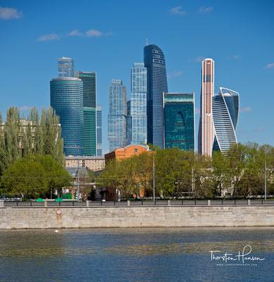 Das neue Stadtviertel Moskau City