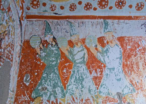 3 Könige - byzantinische Malerei in der Ağaçaltı Kirche im Ihlara Tal