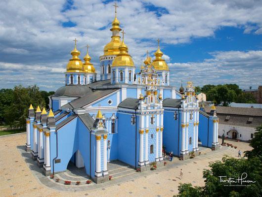 """Laut Überlieferung war die Michaelkirche als erste orthodoxe Kirche vom legendären ersten Kiewer Metropolit Michail am """"Teufels-Ort"""", wo heidnischer Idol stand, erbaut."""
