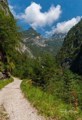 Die letzten Kilometer in den Bergen