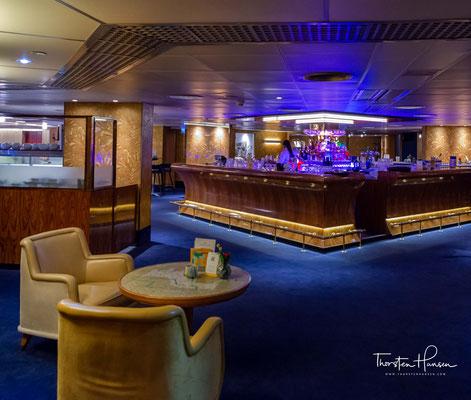 Die Captain's Lounge der SS Rotterdam