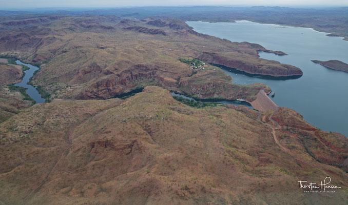 Der Lake Argyle befindet sich ca. 70 km südlich der Kleinstadt Kununurra