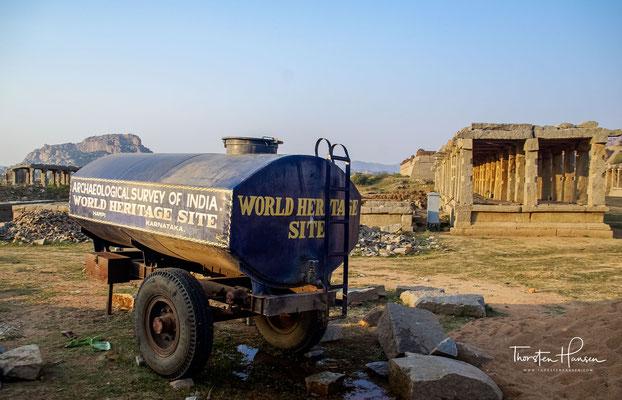 Ein Höhepunkt bei den Tempelbesichtigungen in Hampi ist mit Sicherheit der weltweit bekannte Vittalasvami-Tempel