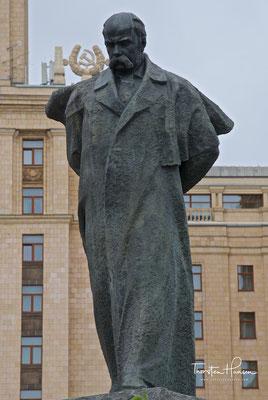 Taras Shevchenko Monument vor dem ehemaligen Hotel Ukraina