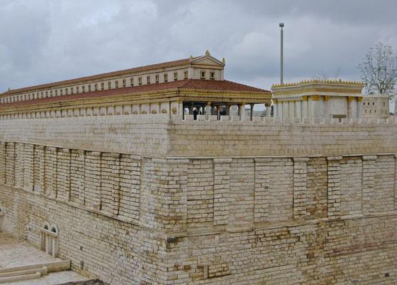Modell des zweiten jüdischer Tempel in Jerusalem