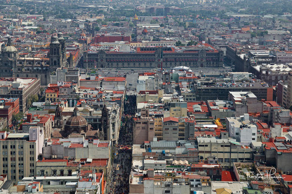 Blick vom Torre Latinoamericana auf Mexiko Stadt