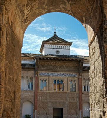 König Peters Palast vom Patio de la Monteria aus gesehen
