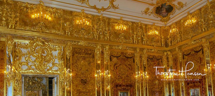 Bernsteinzimmer im Katharinenpalast in St. Petersburg