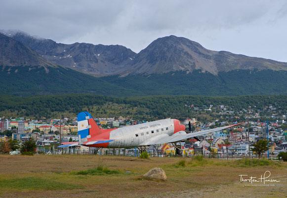 Nostalgisches Flugzeug in Ushuaia