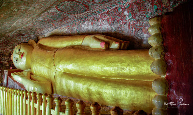 Liegender Buddha in der Hpo Win Daung Höhle