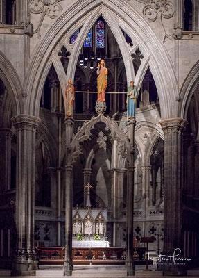 Das Oktogon an der Ostseite des Doms ist seit dem 12. Jahrhundert nahezu unverändert erhalten und gilt als authentischster Teil des Nidarosdoms.