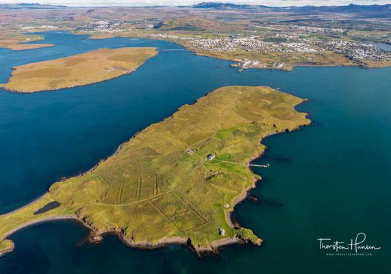 Viðey ist die größte der Inseln im Kollafjörður vor der isländischen Hauptstadt Reykjavík