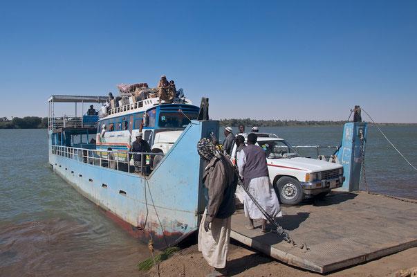 Fährüberfahrt in Alt-Dongola