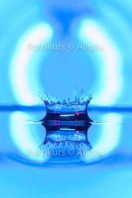 Wassertropfen-Gegenlicht