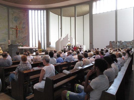 Die Kirche war gut gefüllt