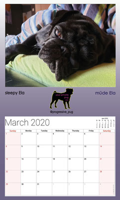 progressive-pug 2020 calendar - march