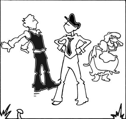 6. Orlando trifft auf Ganymed (die als Mann verkleidete Rosalind).