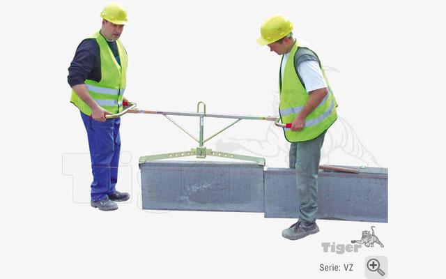 Versetzzange zum Versetzen von Bordsteinen und GaLaBau-Elemente