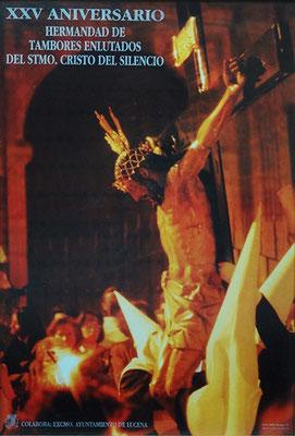 Cartel del XXV Aniversario Fundacional de la Hermandad de Tambores (1.996)