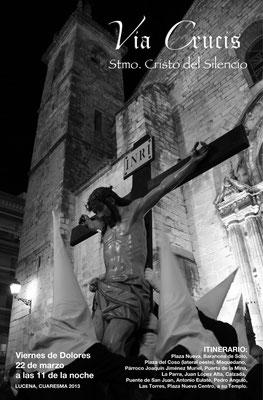 Cartel del Vía Crucis 2.013