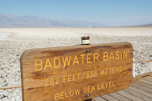 Badwater Basin, tiefster Punkt Nordamerikas im Death Valley