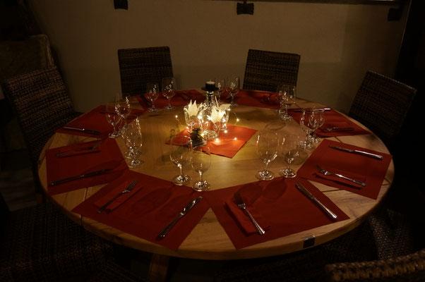 Tisch dekoriert