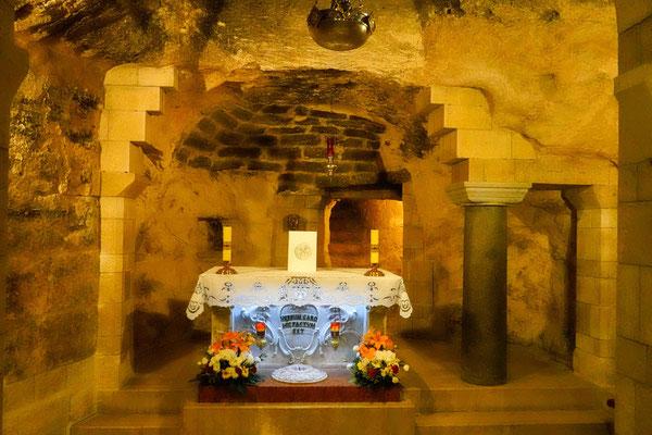 マリアが大天使ガブリエルから受胎を告知されたという場所。