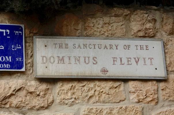 ここから眺めて、イエスはエルサレムの滅亡を予言し涙した。