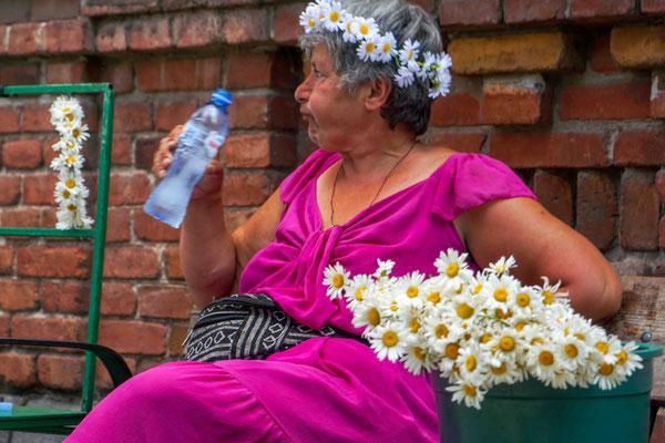 花売りのおばさん