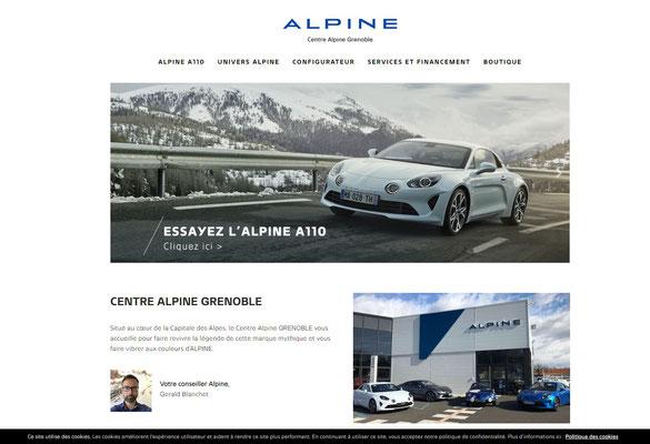 Création du site internet Alpine Grenoble