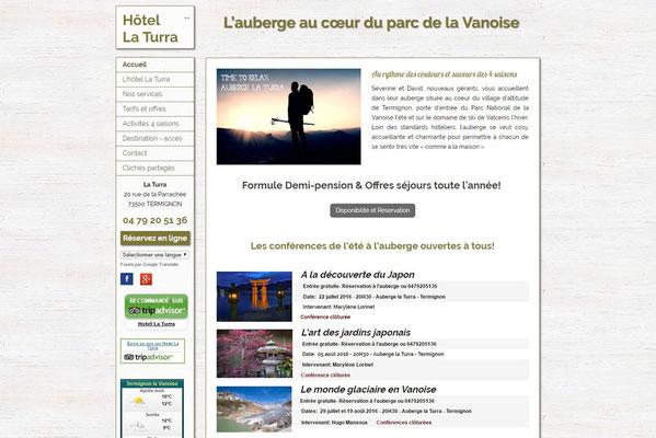 Création de site internet  Hotel La Turra