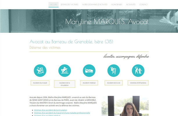 Site internet Maryline Marques Avocat à Grenoble