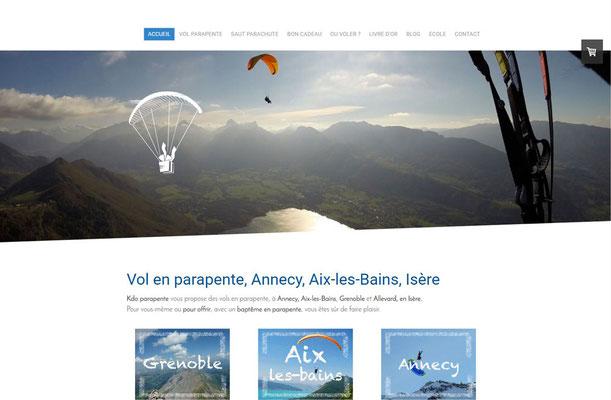 Création du site internet Cadeau Parapente