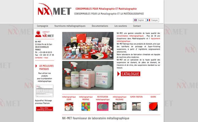 Création du site web Nx Met