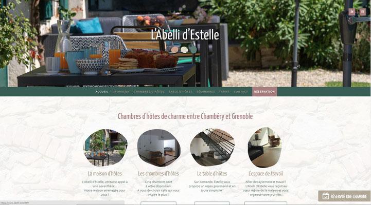 Création du site internet de l'Abelli d'Estelle