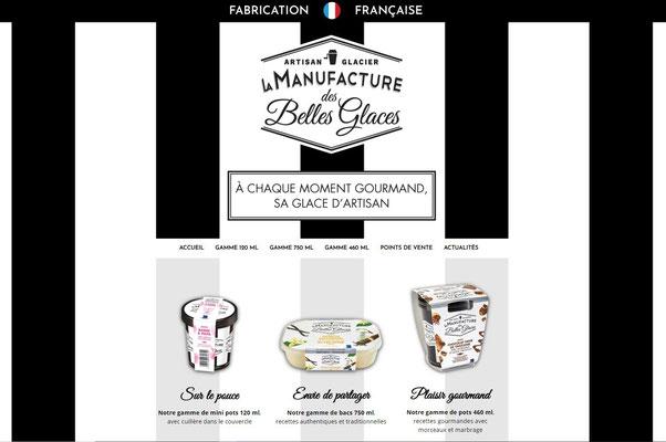 Création du site internet La Manufacture des Belles Glaces