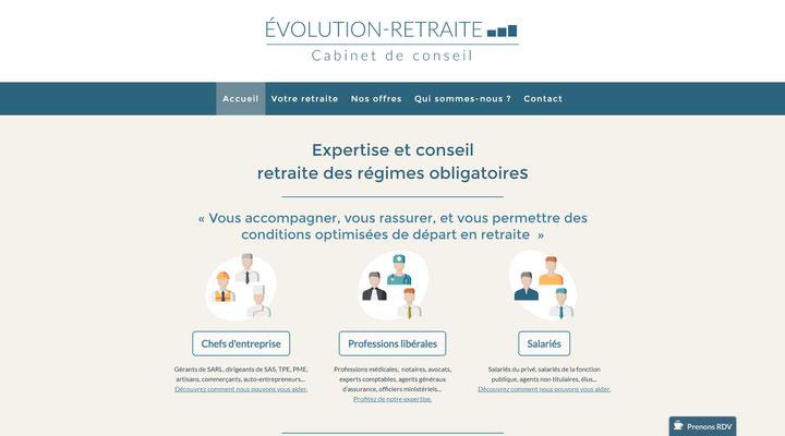 Site internet Evolution Retraite