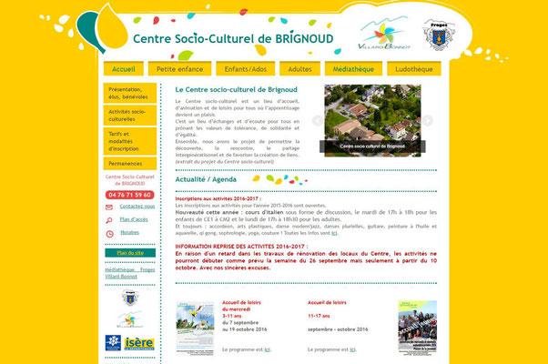 Création de site internet Centre Socio Culturel de Brignoud