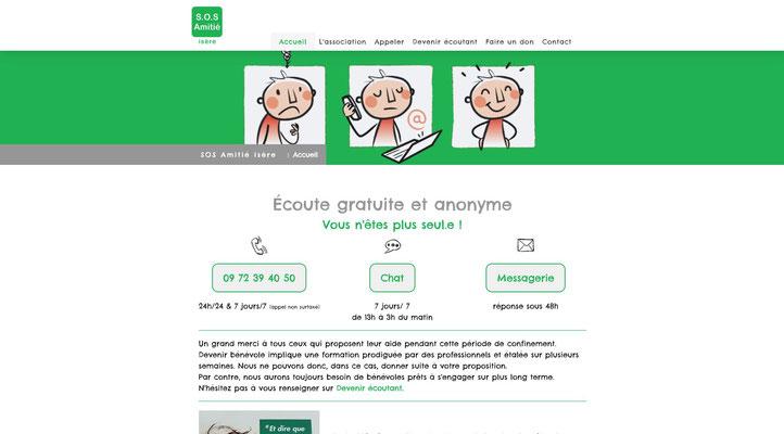 Site Jimdo SOS Amitié Isère