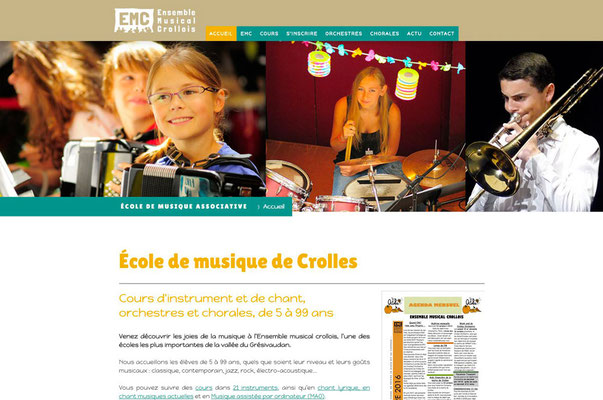 Création de site internet de l'association Ensemble Musical Crollois