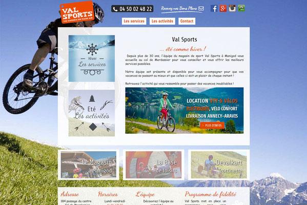 Création de site internet Val Sports