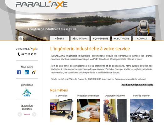 Création du site internet Parall'axe