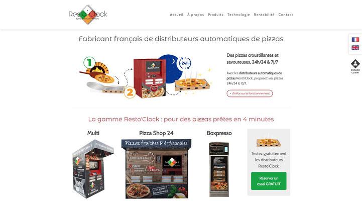 Création du site internet Jimdo Resto'Clock