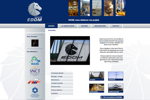 Création du site internet Edom
