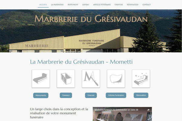 Création de site Marbrerie du Grésivaudan