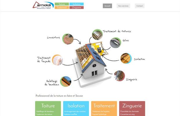 Création de site internet Arnoldi - Artisan