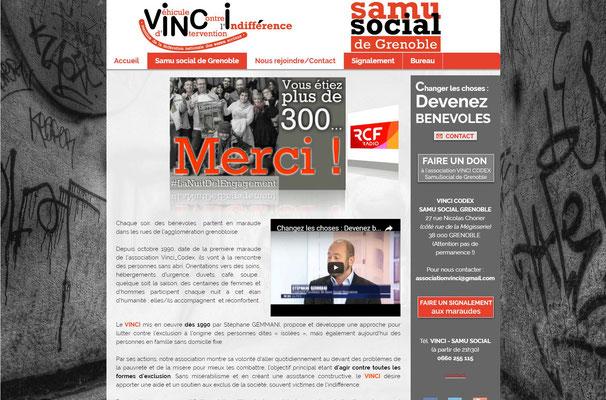 Création de site internet du Samu Social de Grenoble