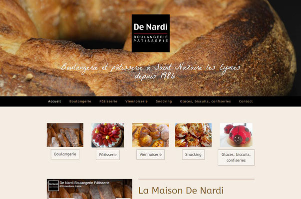 Création du site internet De Nardi Boulangerie