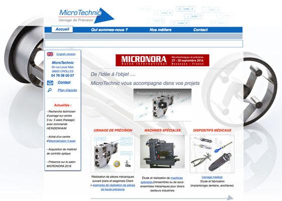 Création du site internet Microtechnic
