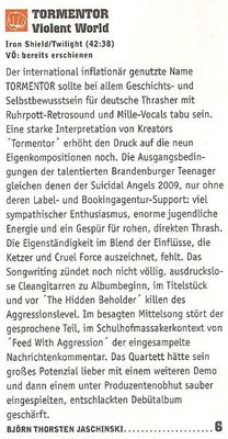 Rock Hard Review, 2012